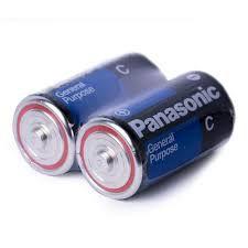 PILHA PANASONIC SUPER HYPER C C/2 SHRINKS