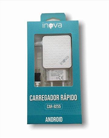 CARREGADOR RÁPIDO 2USB  V8 ANDROID CAR-8255