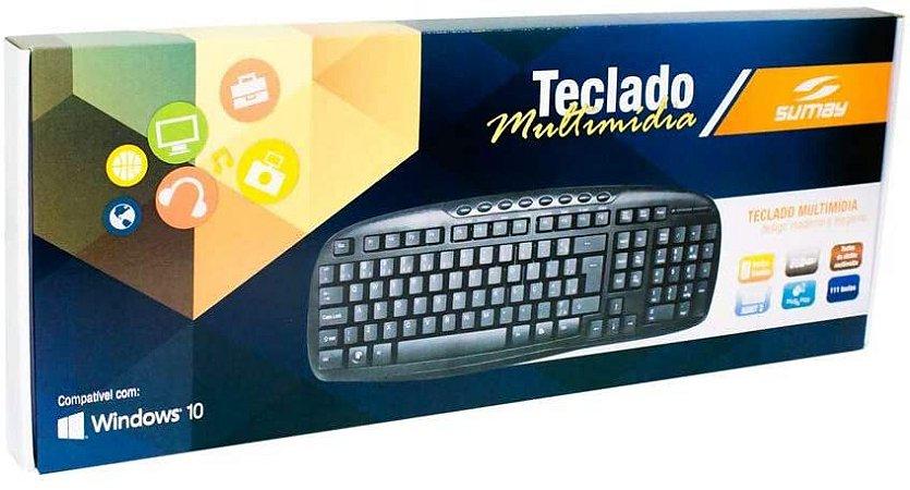 TECLADO MULTIMIDIA USB ABNT2 SUMAY SM-TM1303