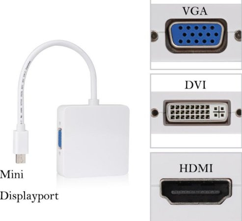 ADAPTADOR MINI DISPLAYPORT X HDMI/VGA/DVI 3X1 X-CELL XC-ADP-27
