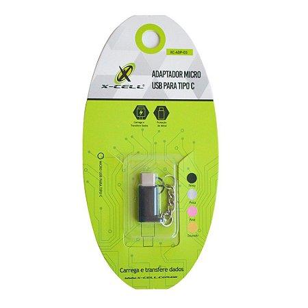 ADAPTADOR/ CONECTOR MICRO USB P/ TIPO-C- X-CELL XC-ADP-03
