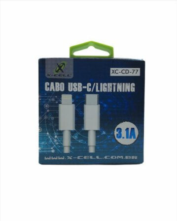 CABO USB-C / LIGHTNING 8P 3.1A X-CELL XC-CD-77