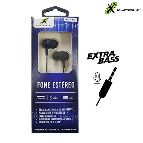 FONE DE OUVIDO P/ CELULAR X-CELL XC-F-09