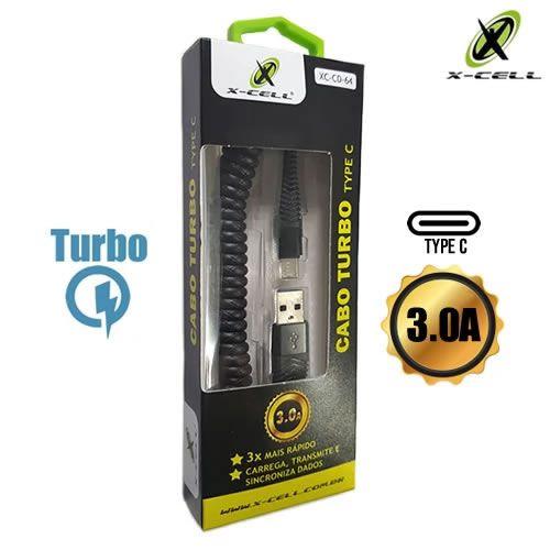 CABO DE DADOS USB TYPE C 3.0A ESPIRAL X-CELL XC-CD-64