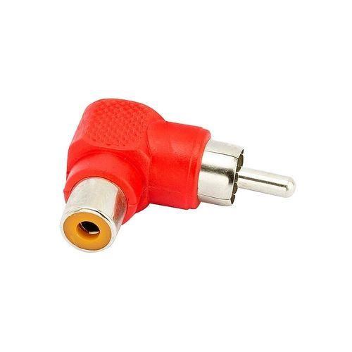 ADAP. PLUG RCA 90 P/ JACK RCA - VM - NIQUEL