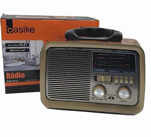 RADIO USB AM/FM BASIKE RAD-8713 BIVOLT - 5V