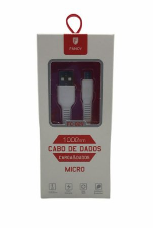 CABO MICRO USB V8 FLAT 1M FANCY FC-02V