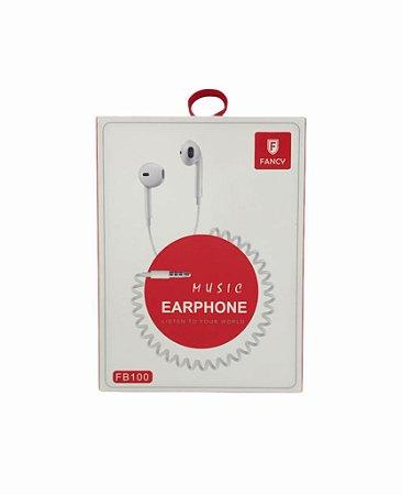 FONE DE OUVIDO MUSIC EARPHONE ESPIRAL FANCY FB100