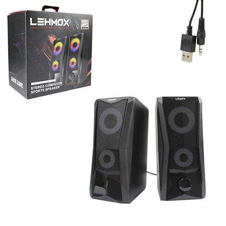 CAIXA DE SOM PC HYPER G.T 3W SPORTS LEHMOX GT-S4