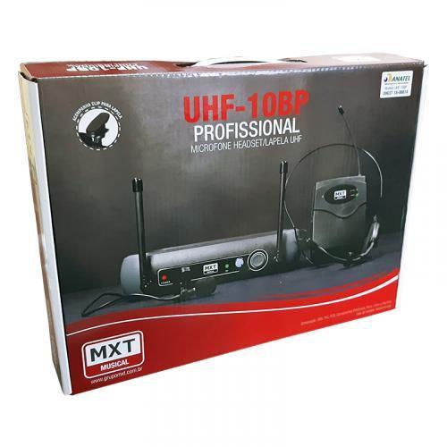 MICROFONE UHF SEM FIO, HEADSET/LAPELA UHF-10BP - FREQ. 533.7 MHZ