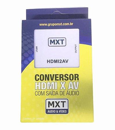 CONVERSOR (ENTRADA) HDMI PARA (SAIDA) AV COM AUDIO