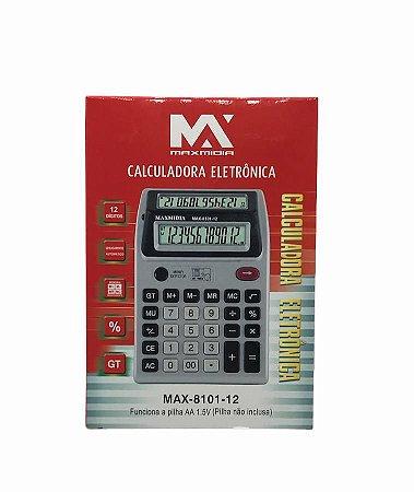 CALCULADORA ELETRONICA 12 DIGITOS MAXMIDIA MAX-8101-12