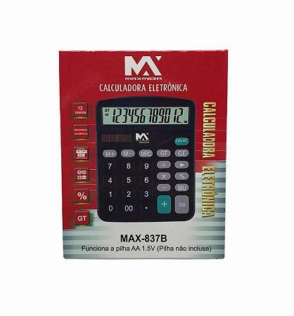 CALCULADORA ELETRONICA 12 DIGITOS MAXMIDIA MAX-837B