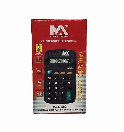 MINI CALCULADORA ELETRONICA 8 DIGITOS MAXMIDIA MAX-402