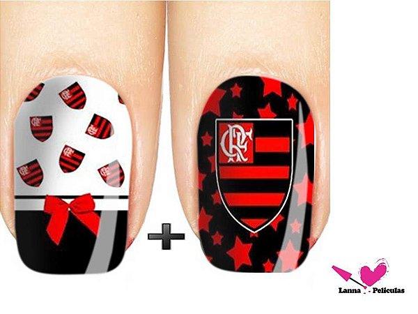 Películas ou Adesivos de Unhas  Modelo Flamengo