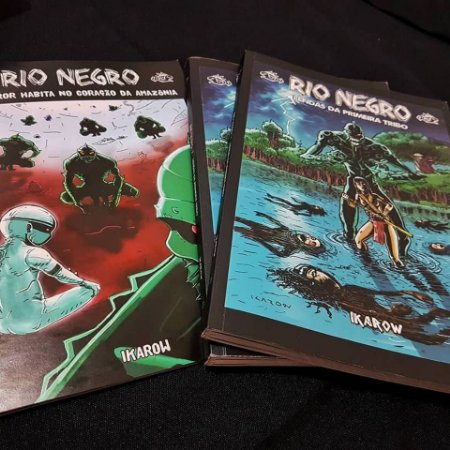 F) OWOJO - 3 quadrinhos - O MONSTRO + RIO NEGRO 1 + RIO NEGRO 2 (FRETE INCLUÍDO)