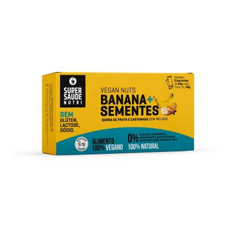 Barras Nuts Banana + Sementes - Pack com 02 unidades