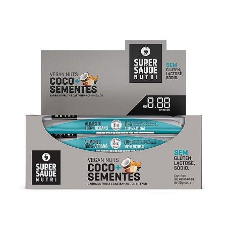 Barras Nuts Coco + Sementes - Display com 12 unidades