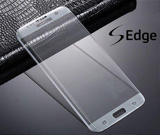Película de Vidro Curvada Transparente Samsung S6 S7 Edge