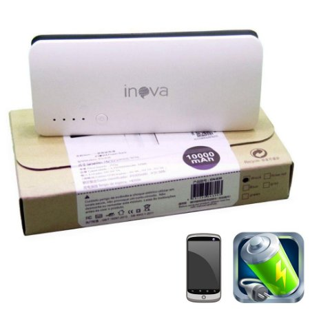Carregador de Bateria Portátil Power Bank Inova  10.000mah