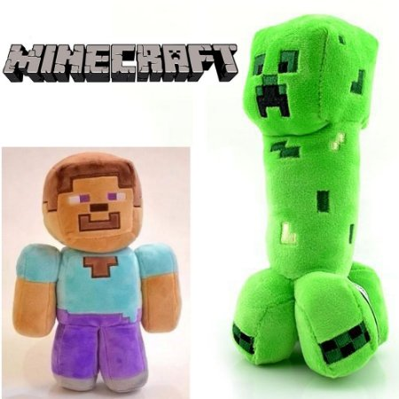 Pelúcia Game Minecraft - Creeper Steve