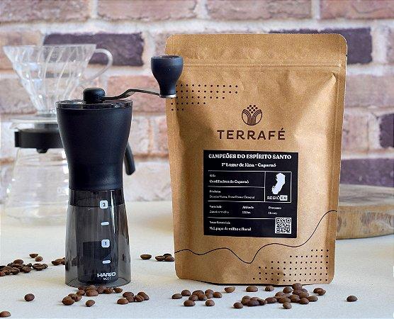 Microlote Campeão Iúna + Moedor de café Hario - 24g