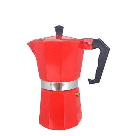 Cafeteira Italiana 6 xícaras Vermelha