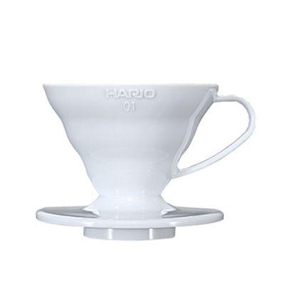 Suporte Filtro Plástico Branco Hario V60 - nº 01