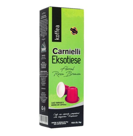 Cápsulas Carnielli Exótico - Floral Rosa Branca