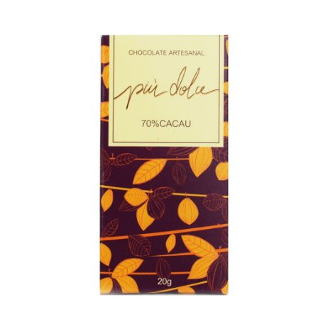 Chocolate Artesanal 70% Cacau - Piu Dolce (20g)