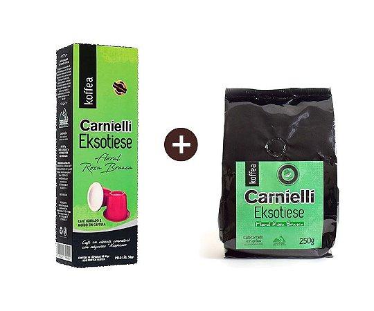 Kit Exótico Floral Moído + Cápsulas Carnielli