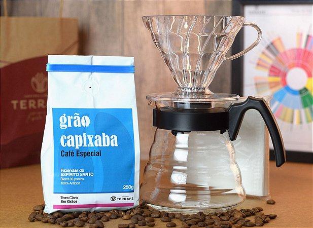 Kit Hario v60 + Grão Capixaba Torra Clara