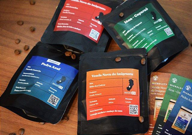 Kit Sensorial Terrafé 4 Cafés