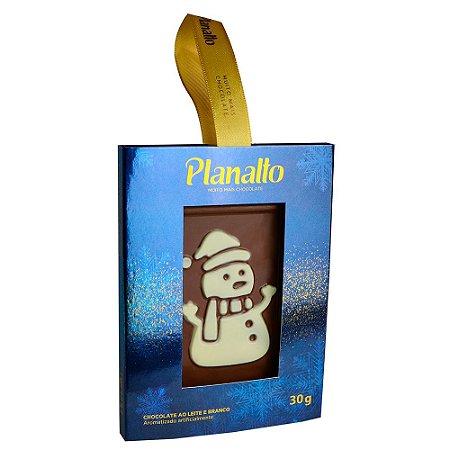 Placa Boneco de Neve - Chocolate ao Leite 30g