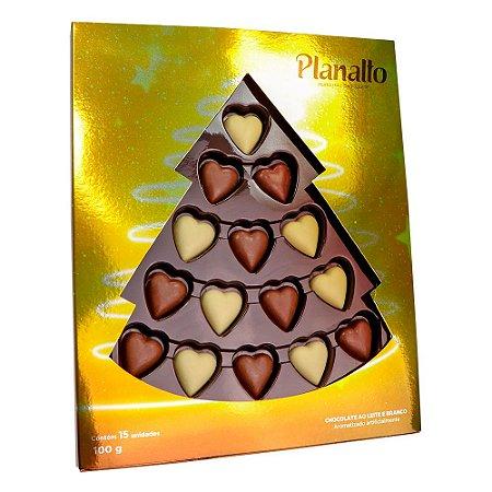 Estojo Árvore de Natal Corações 100g (Dourado)