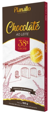 Barra de Chocolate ao Leite 38% cacau Temática - Pórtico de Gramado
