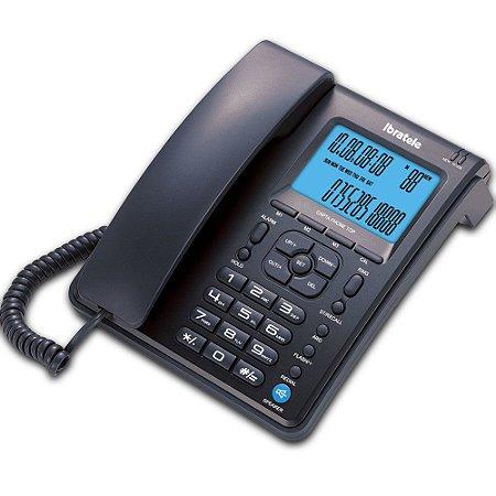 Telefone Ibratele Bright Identificador, Tecla ARD, Viva Voz, CaptaPhone 0457 Preto