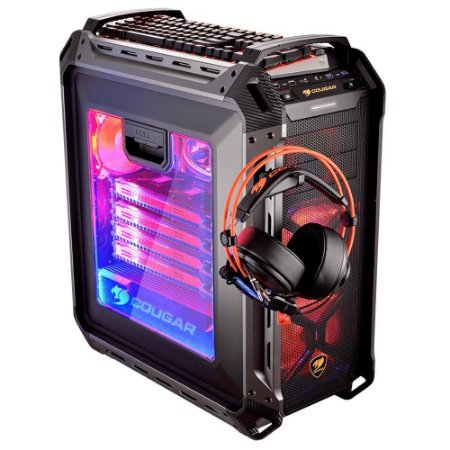 Gabinete Cougar Gaming Panzer Max Full Tower Black Windowed - PN # 106AMK0.0007