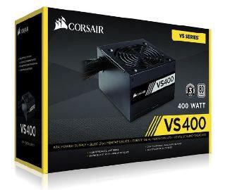 Fonte Corsair 400W VS 80Plus Branca ATX12V/ PFC/ 2.31 S/CABO - PN # CP-9020117-LA