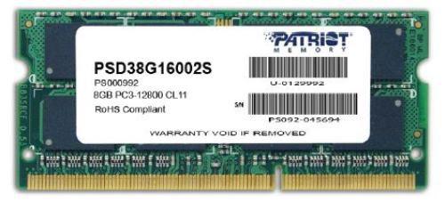 Memória Notebook Patriot Sl 8GB 2400MHz DDR4 Sodimm CL17 - Pn # PSD48G240081S