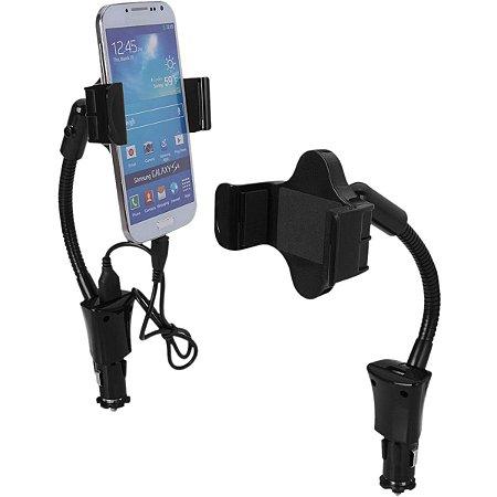 Suporte Universal C/carregador Usb P/gps E Smart Bright