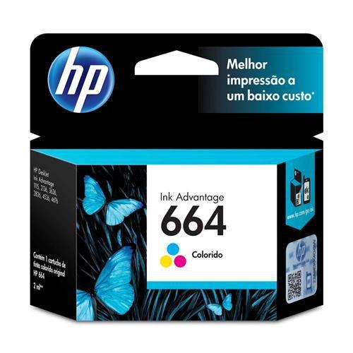 Cartucho de Tinta HP 664 Color 100  Paginas F6V28AB