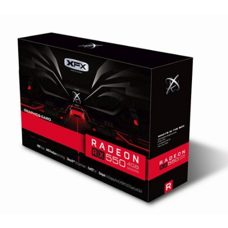 Placa de Vídeo VGA AMD XFX RADEON RX 550 4GB DDR5 1203Mhz Core DP RX-550P4SFG5