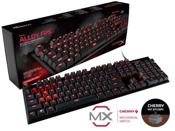 Teclado HyperX Gamer Alloy FPS MX Red - PN # HX-KB1RD1-NA/A4
