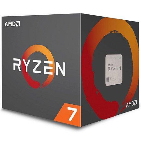 Processador AMD Ryzen 7 2700 3.2GHz 20Mb AM4 Wraith Spire Cooler - PN # YD2700BBAFBOX