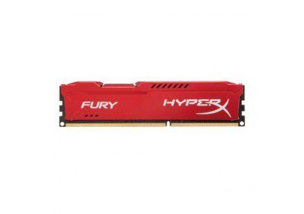 Memória Kingston HyperX FURY 8GB 1866Mhz DDR3 CL10 Red Series - HX318C10FR/8