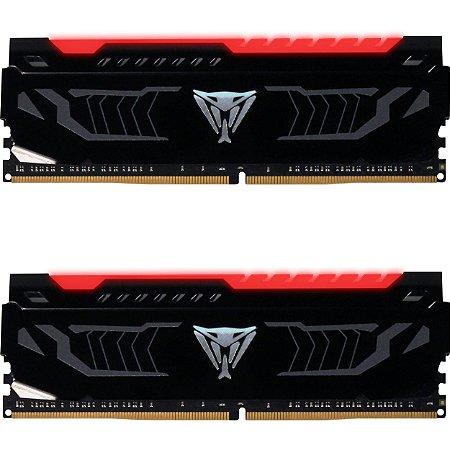 Memória Patriot Viper LED Vermelho 16GB(2x 8GB)3000MHz DDR4 DIMM - PN # PVLR416G300C5K