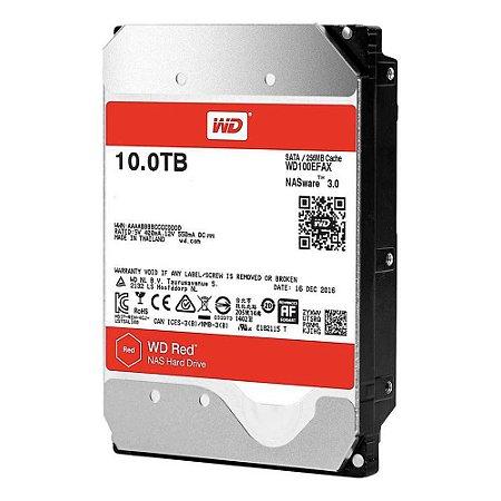 HD WD SATA 3,5´ RED NAS 10TB 5400RPM 256MB Cache SATA 6Gb/s - WD100EFAX