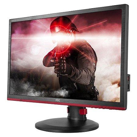 MONITOR GAMER ENTUSIASTA AOC 24 LED 1920 X 1080 FULL HD 1MS 144HZ FREESYNC VGA DVI HDMI DP G2460PF