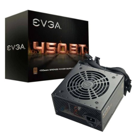 Fonte EVGA 450 BT 80+ BRONZE 450W - PN # 100-BT-0450-K0 ( Sem Cabo De Força )